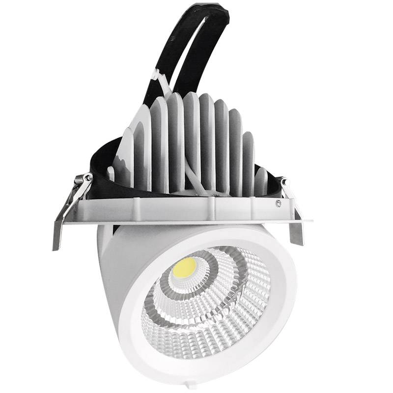 Downlights LED Pricklux 38W, Blanc chaud